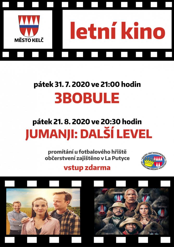 Letní kino 2020 - nový termín filmu 3BOBULE