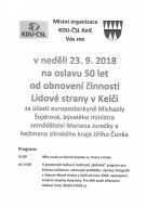 50 let obnovení činnosti KDU-ČSL v Kelči 1